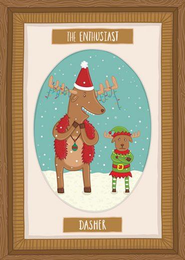 Santa's Reindeer's Christmas Cards